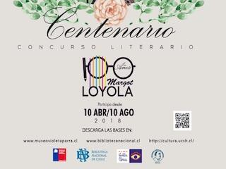 """""""Concurso literario: 100 años de Margot Loyola"""" abre su convocatoria."""